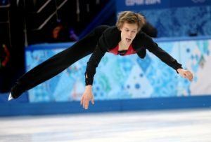 epa04077417 Tomas Verner of the Czech Republic performs during the Men's Free Skating of the Figure Skating event at the Iceberg Palace during the Sochi 2014 Olympic Games, Sochi, Russia, 14 February 2014. EPA/HOW HWEE YOUNG